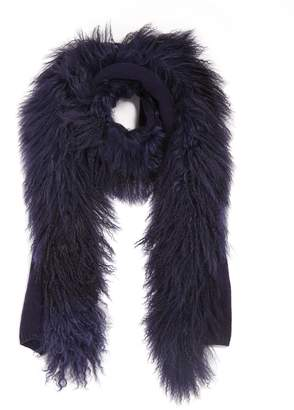 Jigsaw Knit Sheepskin Scarf