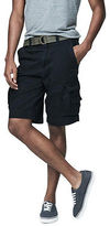 Aeropostale Mens Cape Juby Solid Belted Cargo Shorts