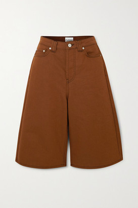 Ganni Denim Shorts - Light brown