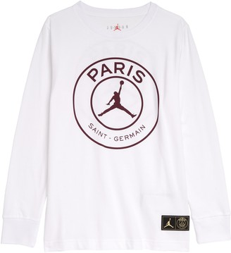 Jordan x Paris Saint-Germain Mirror Logo Long Sleeve Graphic Tee