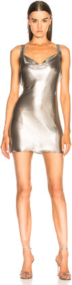 Fannie Schiavoni Metal Mesh Dress in Silver | FWRD