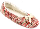 Universal Textiles Womens/Ladies Mottled Colour Stripe Slippers With Bow Detail