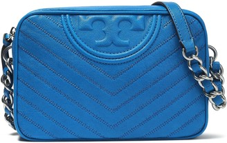 Tory Burch Tassel-trimmed Logo-embellished Quilted Leather Shoulder Bag