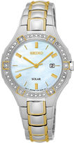 Seiko Ladies 2 Tone Crystal Accent Bracelet Watch