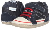 Robeez High Top Hank Mini Shoez (Infant/Toddler) (Navy/Off White/Red) - Footwear