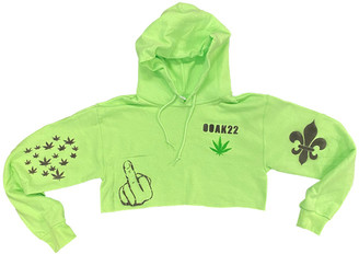 Singer22 Exclusive Ooak22 Special Customizable Cropped Spray Painted Hoodie
