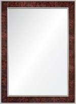The Well Appointed House Walnut Burl Wood Framed Wall Mirror