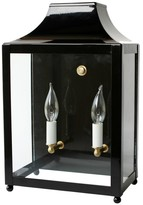 The Well Appointed House Traditional Lantern Sconce with Brass Accents - Available in a Variety of Colors