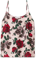 Equipment Layla Floral-print Washed-silk Camisole - Pink