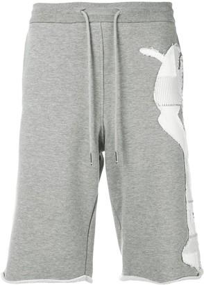 Thom Browne Shirting Patchwork Icon Sweatshort