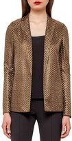 Akris Icone St. Gallen Basketweave Jacket, Bronze