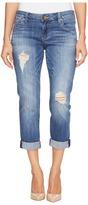 KUT from the Kloth Petite Catherine Boyfriend Five-Pocket Jeans in Fiery/Medium Base Wash Women's Jeans