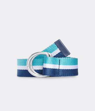 Vineyard Vines Stripe D-Ring Ribbon Belt