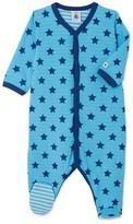 Petit Bateau Baby boys reversible tube knit sleepsuit