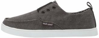 Muk Luks Men's Men's Billie Canvas Shoe-Ebony Shoe