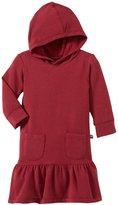 Kickee Pants Fleece Hoodie Dress (Baby) - Scarlet-6-12 Months