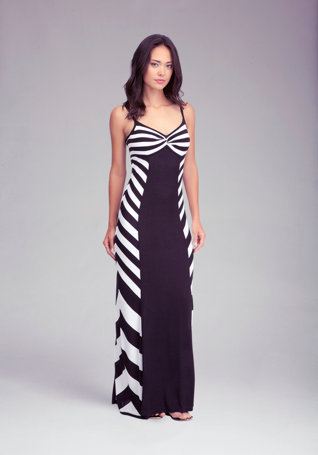 Bebe Twisted Neck Maxi Dress