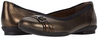 Clarks Sara Tulip (Metallic Leather) Women's Shoes