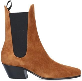 KHAITE Pointed Toe Chelsea Boots