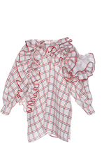 Dice Kayek Checkered Silk Blouse