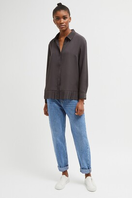 French Connection Crepe Light Pleat Shirt