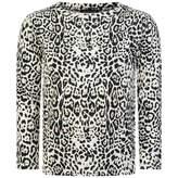 Roberto Cavalli Roberto CavalliGirls Golden Leopard Jersey Top