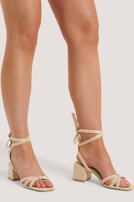 NA-KD Faux Suede Ankle Strap Heels