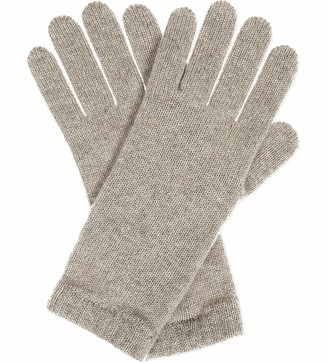 Graham Cashmere - Womens Pure Cashmere Short Cuff Gloves - Made in Scotland - Gift Boxed (Grey Marl)(Size: One Size)
