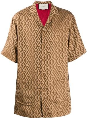 Gucci Diamond Logo Pattern Shirt