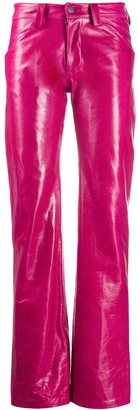 Mowalola Straight Leg Leather Trousers