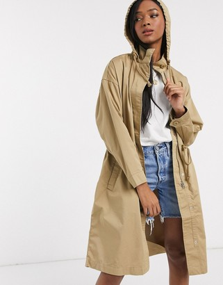 Levi's unbasic trench coat in stone