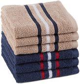 Izod Varsity Stripe Multicolored Washcloths (Set of 6)