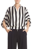 Armani Collezioni Women's Armani Jeans Stripe Stretch Silk Top