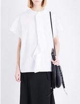 Yohji Yamamoto Draped cotton-poplin shirt
