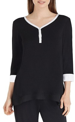 DKNY Two-toned Jersey Pajama Top