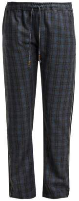 Morpho + Luna Zac Checked Wool Trousers - Womens - Grey Print