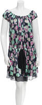 Rochas Abstract Printed Silk Dress w/ Tags