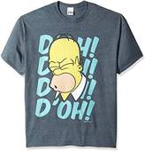 The Simpsons Men's Big and Tall Homer D'Oh 90's Retro T-Shirt