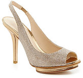 Pelle Moda Rivka Metallic Peep-Toe Pumps