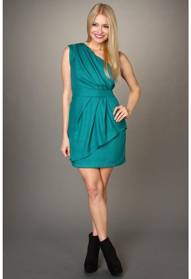 BCBGeneration Draped One Shoulder Dress (Aries) - Apparel