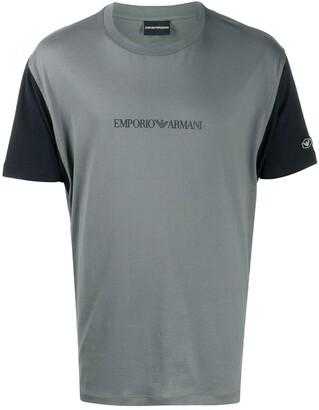 Emporio Armani colour-block logo T-shirt