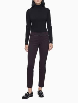 Calvin Klein Modern Essentials Plum Stretch Ankle Pants