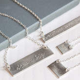 Your Own The Jewellery Boutique Sterling Silver Engraved Bar Necklace
