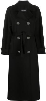 Giorgio Armani Double-Breasted Cashmere Coat