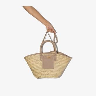 Jacquemus neutral Le Panier Soleil straw tote bag