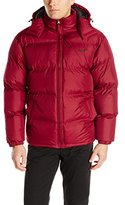 Avia Men's Puffer Jacket with Removable Hood, Barn Red/Black