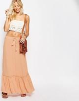 Vila Tiered Maxi Skirt