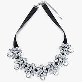 John Lewis Crystal Statement Necklace, Black/Silver