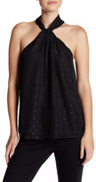 Socialite Twist Front Woven Sleeveless Blouse