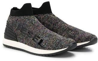Diesel glitter effect sneakers